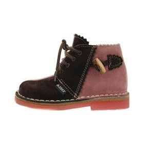 ASTER Pink & Brown Suede Boots Size Toddler Girls